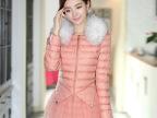新款韩版棉衣 女外套冬装 修身大码羊毛领中长款加厚棉袄棉服