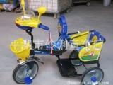 伶俐童车儿童三轮车三轮脚踏车带安全侧板的双人座位新款可骑可坐