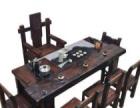 海口老船木茶桌椅组合实木中式仿古阳台小茶几功夫茶艺桌客厅明清茶台