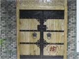 中式仿古大门实木别墅庭院大门定做茶楼饭店双开大门原木