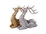 厂家直销 2014时尚精致镂空圣诞鹿 家居摆件仿生彩绘圣诞摆件