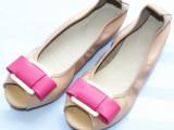 2014新款韩版真皮女鞋批发 鱼嘴平跟大码女单鞋凉鞋软底开车鞋