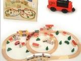 木制 80PCS tomas托马斯火车轨道玩具 带电动火车头 组