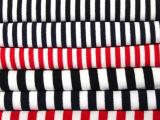 加厚全棉黑白条纹不倒绒 儿童保暖内衣面料 针织面料 现货不倒绒