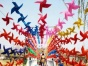 风车节各种七彩风车制作厂家出售荷兰风车展览出租价格