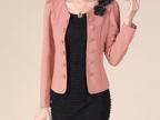 2013秋装新款韩版修身显瘦双排扣百搭长袖小西装 外套女装批发