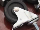 医疗移动器械脚轮3寸双刹万向轮脚轮轮架