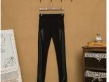 版型做工**~原单 拼皮 时装 打底裤 铅笔裤