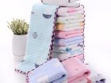 唯朵拉儿童提花纯棉六层纱布毛巾卡通全棉毛巾定制一件代发