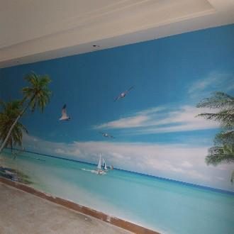 惠州贴墙纸墙布,壁画,美缝,pvc ps线条