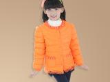 2015新款童装蕾丝珍珠领童羽绒服羽绒内胆中小女童羽绒外套热卖