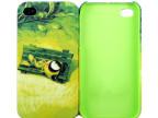 红一佰塑料制品厂 iPhone4卡通水贴手机壳 白底图纸水贴保护套