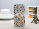 新款立体浮雕苹果情侣壳 iphone4S/5/5S钻石纹彩绘磨砂