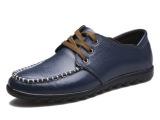 厂家批发直销英伦时尚单鞋温州休闲系带皮鞋头层真皮男鞋一件代发