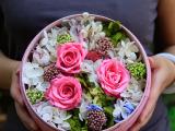 创业玫瑰花盒 永生花新产品代理加盟创意礼品盒 家居代理加盟