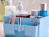 大容量桌面收纳盒 清新纯色塑料化妆品收纳盒  桌面收纳必备142