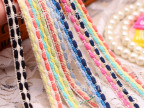 现货1cm多色韩国小香风编织织带三股发饰