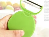 不锈钢削皮刀 苹果果皮刀 瓜果刨 折叠苹果型削皮器 15g