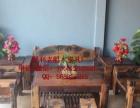 林芝市老船木家具茶桌椅子沙发茶几茶台餐桌博古架办公桌罗汉床