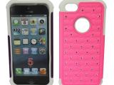 厂家直供 苹果5G糖果硅胶套 三合一点钻手机壳 iphone5保