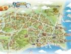 专业制作手绘地图,景区导览图制作,旅游景点导览图制作