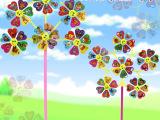 广场公园热卖儿童传统怀旧风车6朵笑脸风车