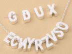 英文字母A-Z  孔直径2.5mm  diy饰品手工材料 零售随机混发