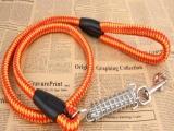 供应优质宠物带 编织圆带牵引绳 带弹簧宠物绳 狗绳狗链1.5*1