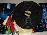 音频线2对2莲花线四头线 15米二对二莲花线正品音频线、线是H