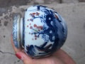 乾隆年制青花釉里红盖罐