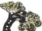 小弯角黑珠**花DM10067 珠子绣 手工钉珠 珠绣辅料 欢迎定做