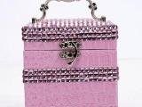 观雅 鳄鱼纹皮革带钻内三层首饰盒,212