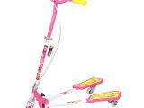 批发粉色蓝色蛙式车 儿童蛙式三轮滑板车 新款带闪轮铃铛活力板