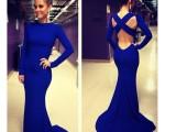 ebay经典爆款 欧美性感派对绷带礼服性感蓝色时尚连衣长裙 KF