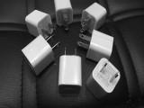 工厂批发绿点万能手机充电器4S数据线插头5S手机适配器电源