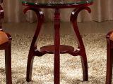 欧式简约现代圆形玻璃茶几桌 创意客厅简易小圆桌白色小户型茶几