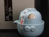 新品发布 厂家新款高质汝窑立体造型带盖手抓壶 精致瓷器茶壶
