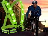 厂家直销 反光警示背心骑行服跑步运动安全