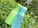 厂家直销磨砂塑料便携摔不破汽水瓶 密封水杯 水壶 可定制 印LO