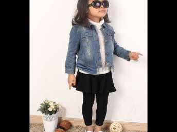 批发供应广东2014新款秋款韩版儿童长袖牛仔上衣外套宝宝牛仔夹克