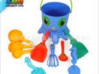 11件沙滩桶套装 八爪鱼沙滩桶 新款沙滩玩具 海洋动物沙滩玩具
