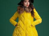冬装女装韩版A字版中长款羽绒服女大毛领宽松外套羽绒衣正品