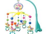 新生儿玩具0-1岁宝宝摇铃 小蜜蜂床铃音乐旋转益智玩具 手抓床铃