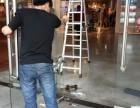 南京江宁区玻璃门维修-玻璃门地弹簧维修安装-玻璃门把手维修
