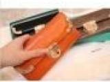 2012新款欧美高端全牛皮金属扣真皮长款钱包皮夹卡包女包