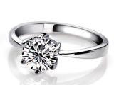 925纯银戒指 韩版  经典女戒 六爪钻戒 完美婚戒 镶钻戒指批