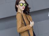 2015秋冬季新款鹿皮绒短款小外套女式上衣韩版修身气质小西装潮