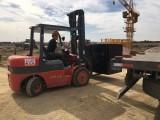 武汉专业叉车出租工厂搬迁设备吊装移位货物装卸随叫随到服务