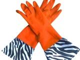 健康环保手套 天然乳胶手套 斑马纹印花家