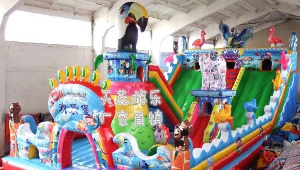 天蕊游乐充气城堡大型充气滑梯蹦蹦床儿童蹦极旋转飞车 碰碰车